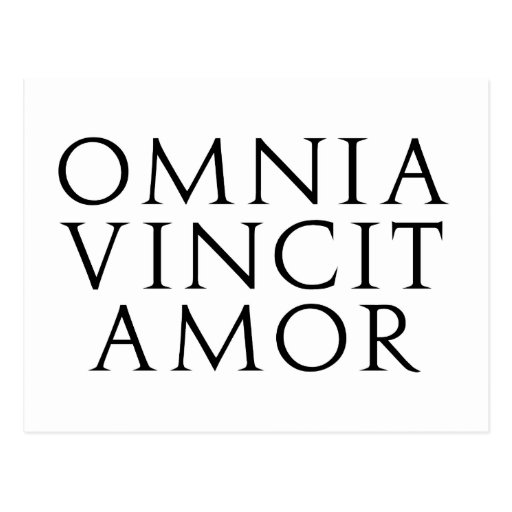 Omnia Vincit Amor Postal