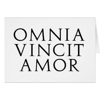 Omnia Vincit Amor Tarjetas