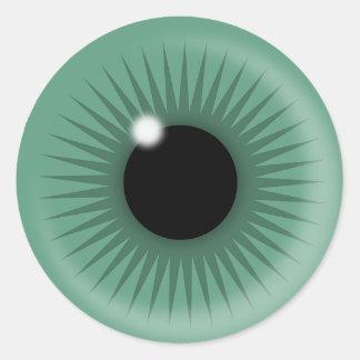 omnipresent observer classic round sticker