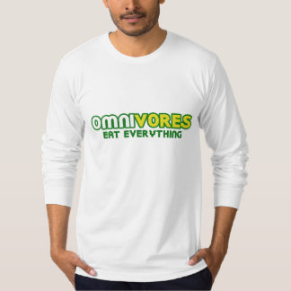 Omnivores Eat Everything Parody T-Shirt