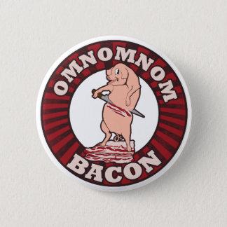 Omnom Bacon Advertising Parody Pinback Button