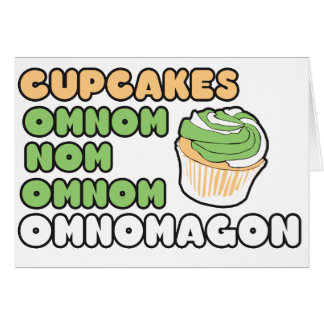 OMNOM Cupcakes Card