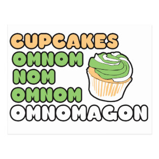 OMNOM Cupcakes Postcard