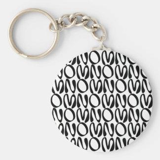 OMNOMNOMNOM 1 White Keychain