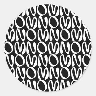 OMNOMNOMNOM 2 Black Classic Round Sticker
