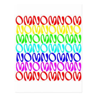 OMNOMNOMNOM 4 Rainbow 2 Postcard