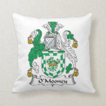 O'Mooney Family Crest Throw Pillow