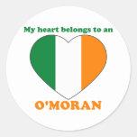 O'Moran Pegatinas Redondas