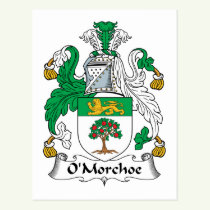 O'Morchoe Family Crest Postcard