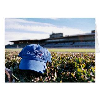 OMRH Hat at Santa Anita Greeting Card