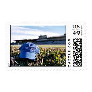 OMRH Hat at Santa Anita Stamp