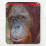 Omry Orangutan Fan Mousepads