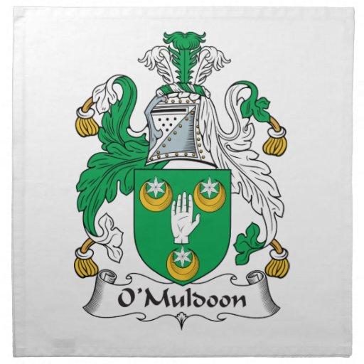 O'Muldoon Family Crest Napkin