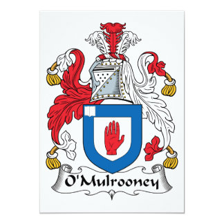 O'Mulrooney Family Crest Card