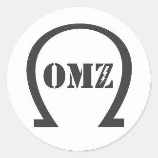 OMZ CLASSIC ROUND STICKER