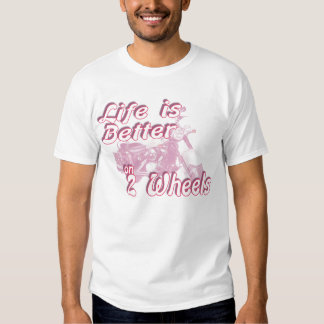 on 2 wheels t-shirt