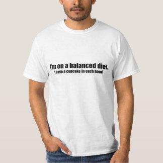 On a Balanced Diet Cupcake in Each Hand T-Shirt