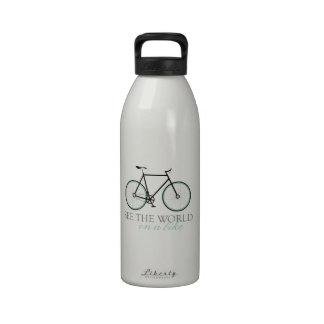 On A Bike Drinking Bottles