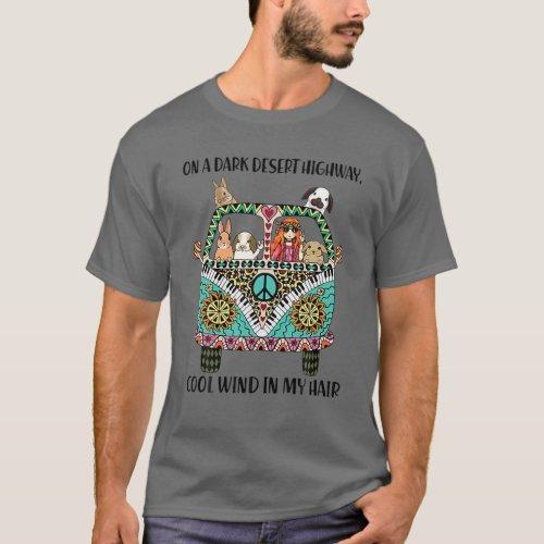 On A Dark Desert Highway Bunny Cool Wind In My Hai T_Shirt