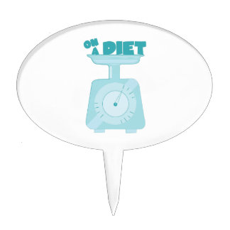 On a Diet Cake Toppers