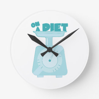 On a Diet Round Wall Clock