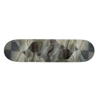 On a glacier skateboard deck