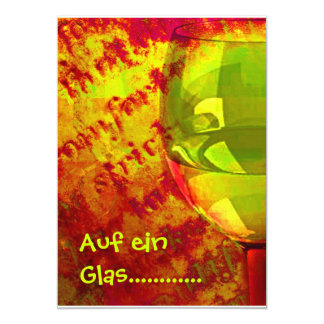 On a glass ............ card