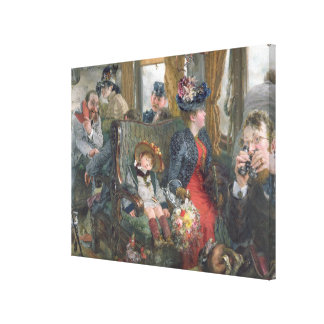 On a Journey to Beautiful Countryside, 1892 Canvas Print