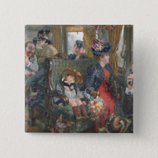 On a Journey to Beautiful Countryside, 1892 Pinback Button