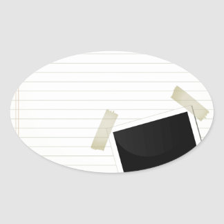 on a page oval sticker