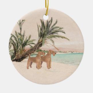 On a Palmy Seashore Ceramic Ornament
