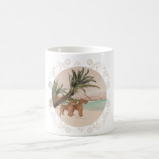 On a Palmy Seashore Coffee Mug