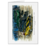 ON A QUIET NIGHT YOU CAN HEAR THEM RUST - CHEVY w- Greeting Card