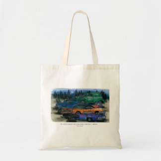 ON A QUIET NIGHT YOU CAN HEAR THEM RUST - MOPAR w- Tote Bags