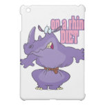 on a rhino diet dieting humor cartoon cover for the iPad mini
