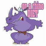 on a rhino diet dieting humor cartoon photo cutouts