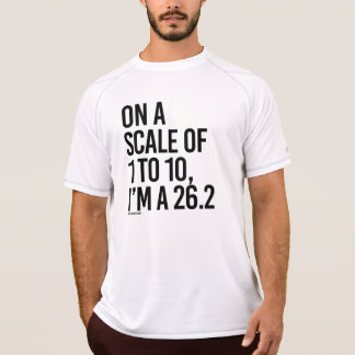 On a scale of 1 to 10, I'm a 26-2  .png T-Shirt