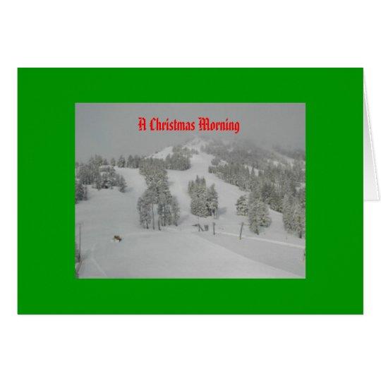 On A Snowy Christmas Morn Card