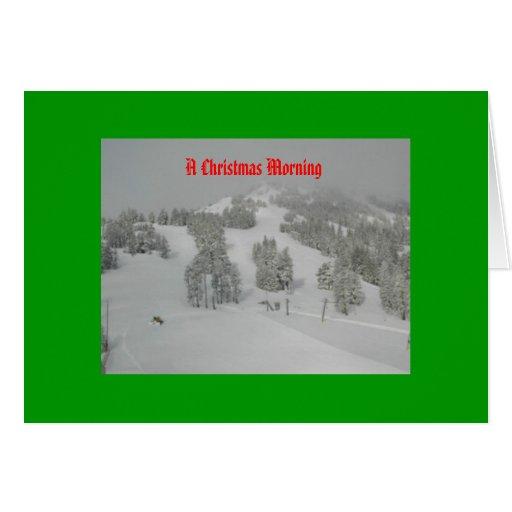 On A Snowy Christmas Morn Greeting Card