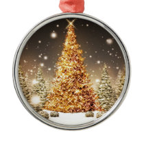On a White Christmas Count Your Blessings Metal Ornament