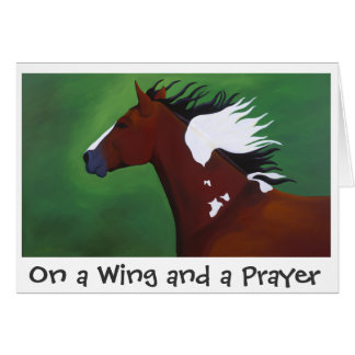 On a Wing and a Prayer greeting card