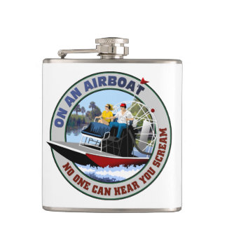 On an Airboat No One Can Hear You Scream Flask