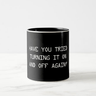 On And Off Again Two-Tone Coffee Mug