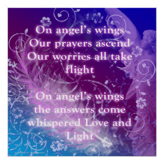 On Angel's Wings inspirational poster