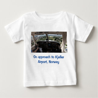On approach to Kjeller Airport, Norway Baby T-Shirt