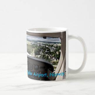 On approach to Kjeller Airport, Norway Coffee Mug