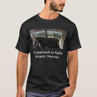 On approach to Kjeller Airport, Norway T-Shirt