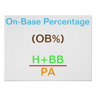 On-Base Percentage Poster