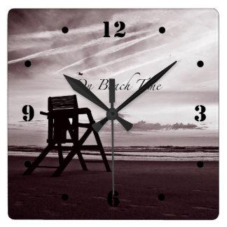 On Beach Time Morning Beach Scene Clock