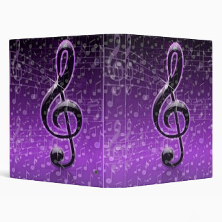 On Beat,Music notes_Binder 3 Ring Binder